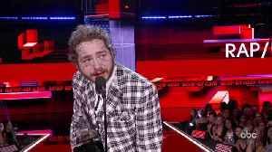 Post Malone Wins Favorite Album - Rap/Hip-Hop at the 2019 AMAs [Video]