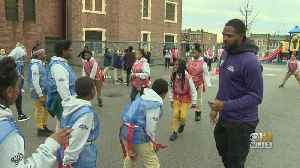 Former Baltimore Raven Torrey Smith Participates In Flag Football For 'Huddle For 100' [Video]