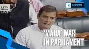 News video: 'Democracy murdered in Maharashtra': Rahul Gandhi in Lok Sabha