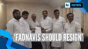 Sena, NCP & Cong claim support of 162 MLAs, demand Fadnavis' resignation [Video]