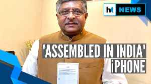 Watch: Made in India iPhone presented to Union Minister RS Prasad [Video]