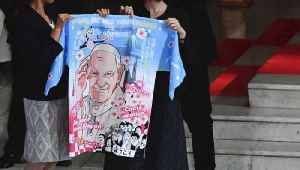 Pope Francis Gifted Anime-Pope Coat While in Japan [Video]