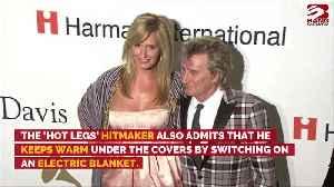 Sir Rod Stewart wears socks and a vest in bed [Video]