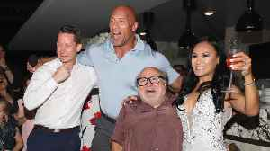 Dwayne Johnson and Danny DeVito crash wedding while promoting new movie [Video]