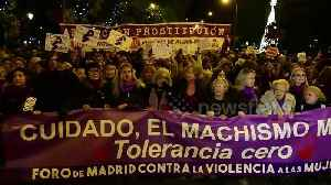 News video: International Day for the Elimination of Violence against Women celebrated in Madrid, Spain.