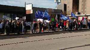 Reporter Update: Jon Delano - Conor Lamb Protests [Video]