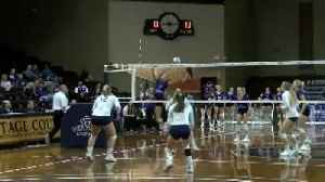 Winona State volleyball falls in five-set match in NSIC Tournament [Video]