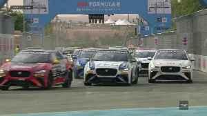 Jaguar I-Pace eTrophy - Round one race Hightlights [Video]