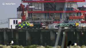Border Force officials search 'Nigerian ferry' MV Jireh at Portland Port on UK's south coast [Video]