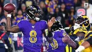 Lamar Jackson Sets NFL Record During 'Monday Night Football' Debut [Video]