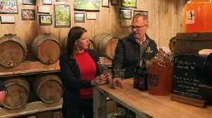 Jo Swinson swigs cider in Cheltenham [Video]