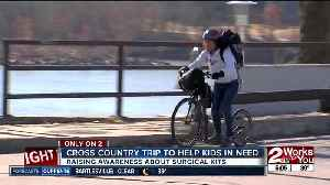 French woman takes on Route 66 challenge on footbike [Video]