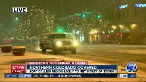 A pre-Thanksgiving snowstorm is now moving through Colorado. Here's what you can expect [Video]