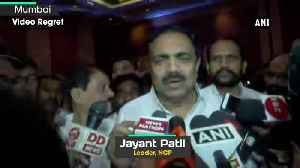 Jayant Patil confident of winning floor test says 162 MLAs will vote against govt of Maha [Video]