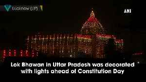 UP Govt building illuminated on eve of Constitution Day [Video]