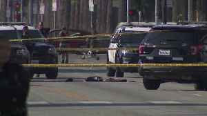 News video: Machete-Wielding Man Killed in Police Shooting That Also Injured Officer in Hollywood: LAPD