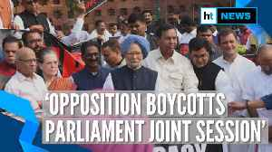 Opposition boycotts joint session on constitution day, holds protest [Video]