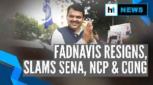 Devendra Fadnavis resigns as Maharashtra CM, slams Sena, NCP & Congress [Video]