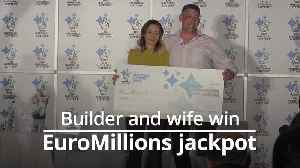Couple celebrate massive £105m EuroMillions jackpot [Video]