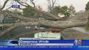 Strong Winds Cause Damage In Southern California [Video]