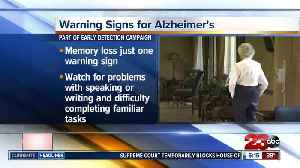 Early warning signs of Alzheimer's [Video]