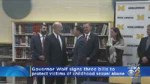 Gov. Tom Wolf Signs Anti-Child Sexual Abuse Measures Into Law [Video]