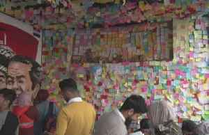 Slain Iraq protesters inspire 'wall of wishes' [Video]