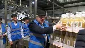 Johnson breaks no drinking pledge as he sips cider [Video]