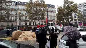 French farmers use tractors to blockade Champs-Elysees in Paris to protest against 'agri-bashing' [Video]
