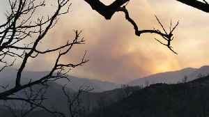 Wildfire Close To Santa Barbara Homes: Rain Coming [Video]