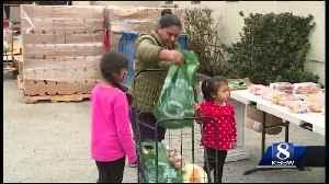 Seaside church hosts 12th annual turkey basket giveaway [Video]