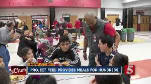 Middle School serves free Thanksgiving dinner to community [Video]