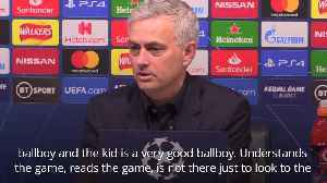 Jose Mourinho praises ballboy who helped set up Champions League equaliser [Video]