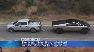 Ford V. Cybertruck: Vehicles Challenged To Tug-Of-War [Video]