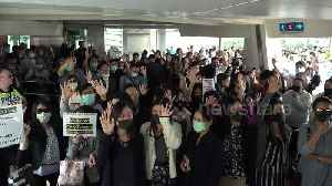 Hong Kong demonstrators stage another lunchtime protest [Video]