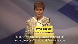 Nicola Sturgeon: Wesminster must have no veto over Scotland's future [Video]