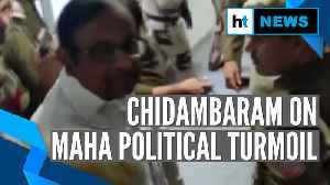 Chidambaram accuses President, governor for Maharashtra political turmoil [Video]