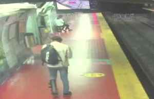 Watch where you're going! Buenos Aires man learns the hard way after subway platform fall [Video]