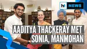 Aaditya Thackeray invites Sonia, Manmohan for Uddhav Thackeray's oath ceremony [Video]