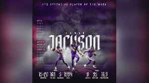 Lamar Jackson Named AFC Offensive Player Of The Week [Video]