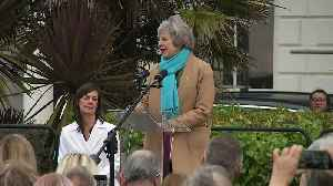 Theresa May unveils Nancy Astor statue in Plymouth [Video]
