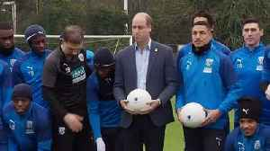 Prince William visits football club to discuss mental health [Video]