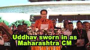 Uddhav sworn in as Maharashtra CM [Video]
