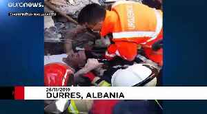 Albania earthquake: Man pulled alive from under rubble of a hotel [Video]