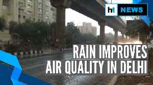 Rain in Delhi improves air quality, mercury down [Video]