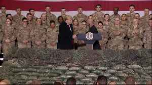 News video: Donald Trump visits US troops in Afghanistan on Thanksgiving