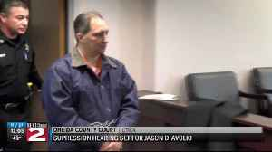 Judge schedules D'Avolio suppression hearing [Video]