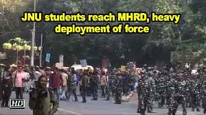 JNU students back on streets, protests outside HRD Ministry [Video]