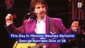 This Day in History: Beatles Guitarist George Harrison Dies at 58 [Video]