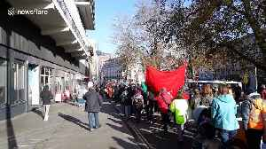 Thousands of people turnout for Earth Strike Protest in Bristol city centre against Black Friday consumerism and climate change [Video]